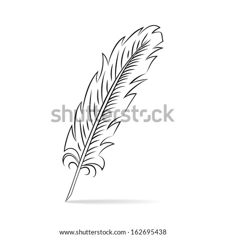 Hand drawn feather
