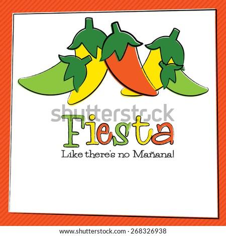Hand Drawn Fiesta Chili Pepper in vector format. - stock vector