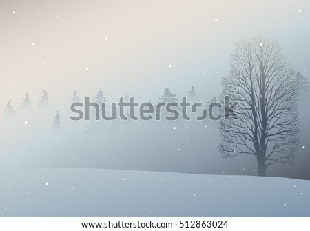 Hand drawn fir tree forest sketch design. Winter holiday backgrounds. Vector illustration