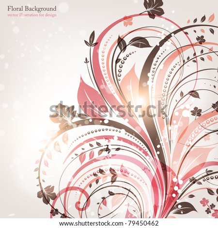 Hand Drawn floral background with flowers, greeting vector card for retro summer design. eps 10 - stock vector