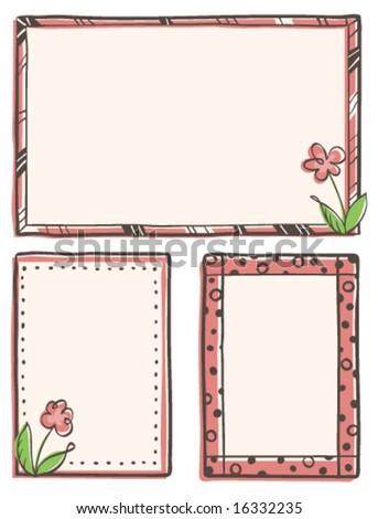 Hand-Drawn Frames - stock vector