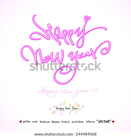 Hand drawn greeting /  vector - calligraphy