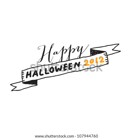 Hand drawn halloween lettering. Vector drawing. - stock vector