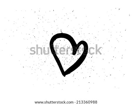 Hand drawn heart - stock vector