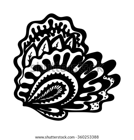 Hand drawn heart in zentangle style. Vector element for design (wedding invitation, card for Valentines Day, boutique logo, label) or tattoos - stock vector
