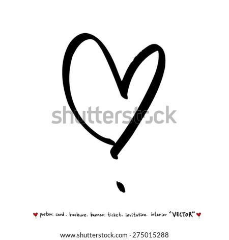 Hand Drawn Alphabet Illustration Calligraphy Vector Stock