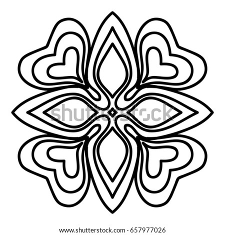 hand drawn henna ethnic mandala circle lace stock vector 657977026 rh shutterstock com Repeating Background Patterns Repeating Pattern Design Patterns