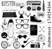 hand-drawn hipster's doodles collection - stock vector