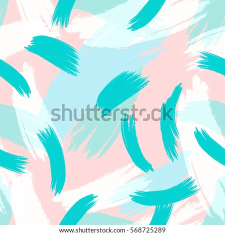 Hand Drawn Hipster Stylish Pattern Pastel Colored Modern Grange Shapes In  Vector Art Wallpaper Print .