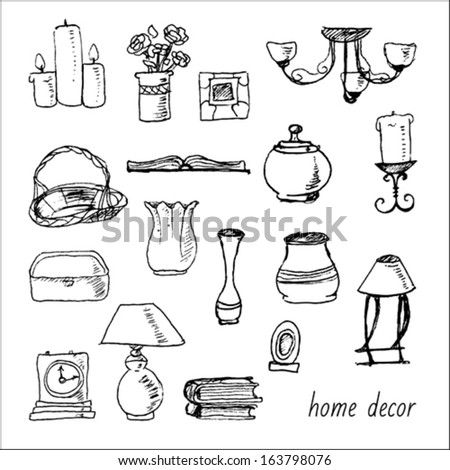 Hand Drawn Home Decor Set