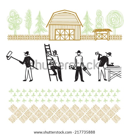 hand drawn home improvement - stock vector