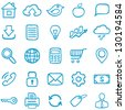 Hand-drawn icons for design and decoration. - stock