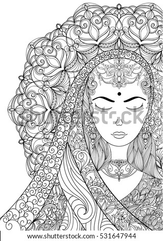 90 Coloring Pages For Adults Hair