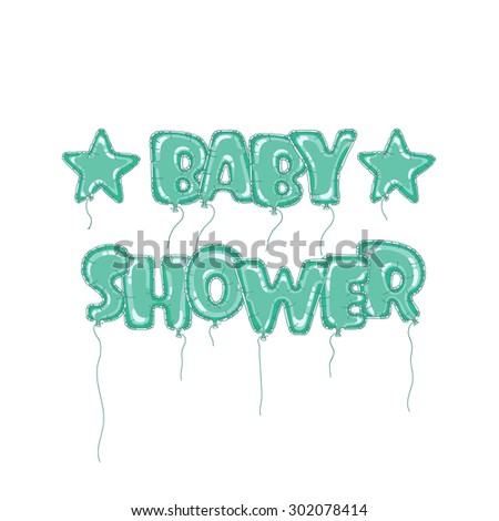 Shopplaywoods balloons inscriptions set on shutterstock vector newborn baby hand drawn inscription in the form of balloons perfect letters for cards design or invitation stopboris Gallery