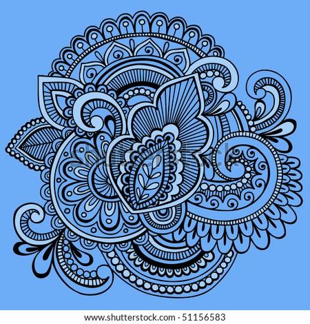 blue67design 39 s henna doodles set on shutterstock. Black Bedroom Furniture Sets. Home Design Ideas