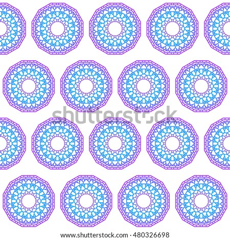 Hand drawn lace ethnic abstract mural gradient colored mandala seamless pattern background for use in design card, invitation, book, album, poster, brochures, notebook etc
