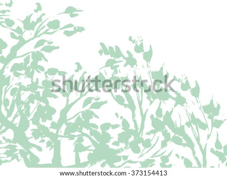 Hand-drawn leaf and branch background. Perfect for your design.