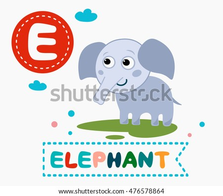 Cartoons alphabet letter e elephant stock vector 707836042 hand drawn letter e and funny cute elephant childrens alphabet in cartoon style vector altavistaventures Image collections