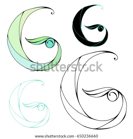 Hand Drawn Letter G Color And Graphic Variations Vector For Logo