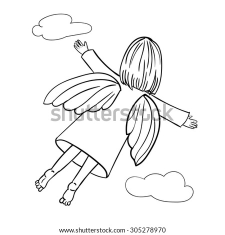Angel Baby Wearing Wings Stock Images Royalty Free Images
