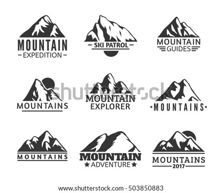 Mountain Silhouette mountains vector stock images, royalty-free images & vectors