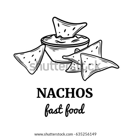 Nachos drawing images galleries with for Nachos coloring page