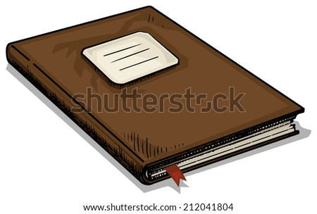 Hand drawn old Journal, notebook, vector illustration