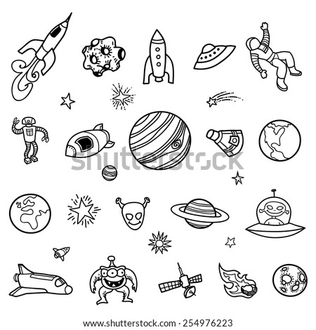 Hand Drawn Outer Space Doodles