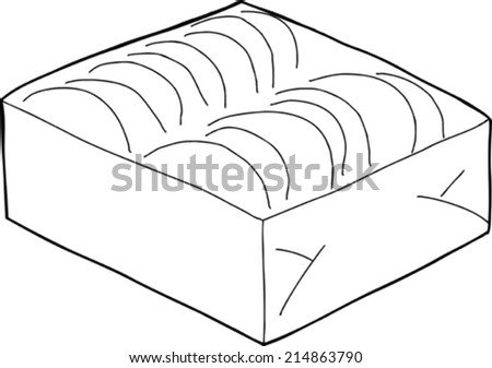 Hand drawn outline of taco shells box