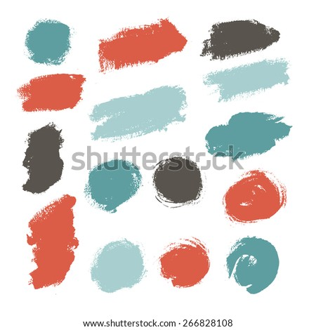 Hand drawn paint strokes. Vector illustration