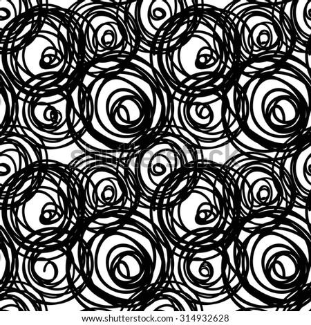 Hand drawn pattern. Vector pattern. - stock vector