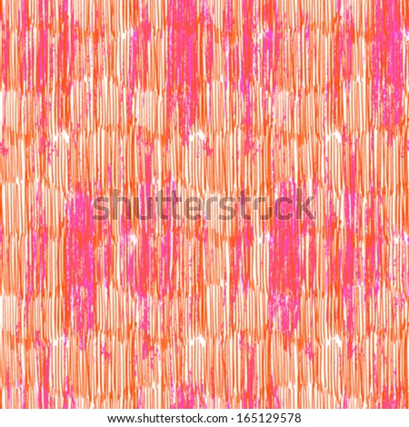 Hand drawn pattern with vertical brush strokes in bright color. Grunge texture for web, print, home decor, textile, wrapping paper, wallpaper, invitation card background, summer fall fashion fabric - stock vector