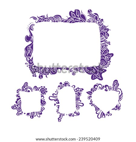 Hand Drawn Patterned Frames Vector Stock Vector HD (Royalty Free ...