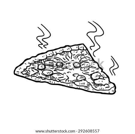 hand drawn pizza