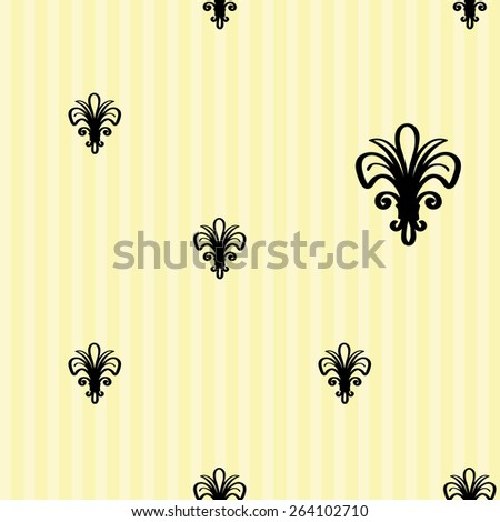 Hand drawn retro and vintage forged lily decoration items. Set of isolated rustic wedding decorative symbols and elements. Black outline sketch. - stock vector
