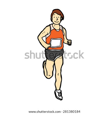 hand drawn runner - stock vector