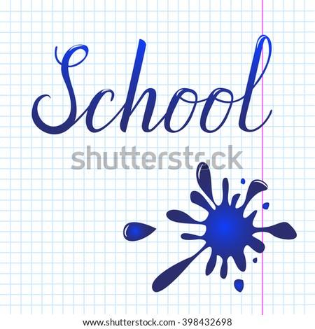 Hand-Drawn School - stock vector
