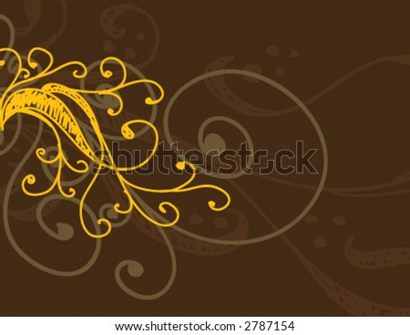 hand drawn scroll background (ALL VECTOR) - stock vector