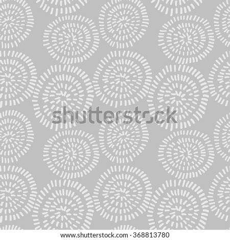 Hand drawn seamless ink pattern with circles. Sketch design for print, home decor, textile, wrapping paper, invitation card background, fashion fabric