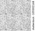 Hand drawn seamless pattern - stock photo