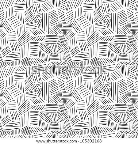 Hand drawn seamless pattern - stock vector