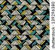 Hand drawn seamless pattern. EPS 8 vector illustration. - stock vector