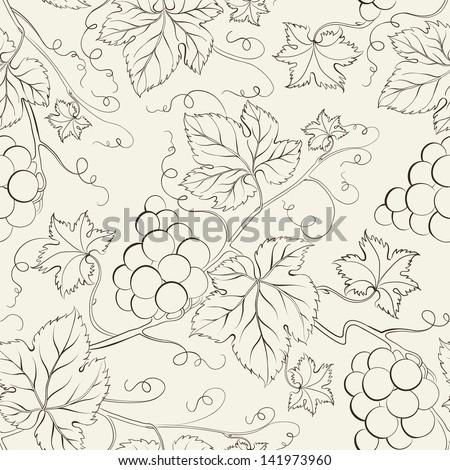 Hand drawn seamless pattern. Vector illustration. - stock vector