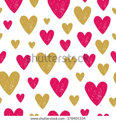 Hand drawn seamless vintage pattern. Vector background, retro style. - stock vector