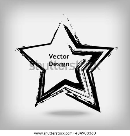 hand drawn shape star creative artistic stock vector hd royalty rh shutterstock com Abstract Shape Paintings Farmhouse Shapes