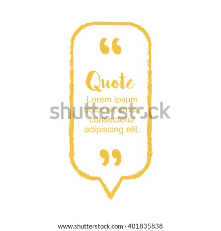 Hand drawn sketches block quote frame, bubble, box and pull quote design elements. Text frame template. Business card template, paper sheet, information. Print design. Quote form. Vector illustration - stock vector