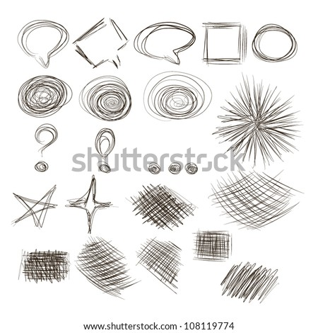 Hand-Drawn Sketchy Doodle - stock vector