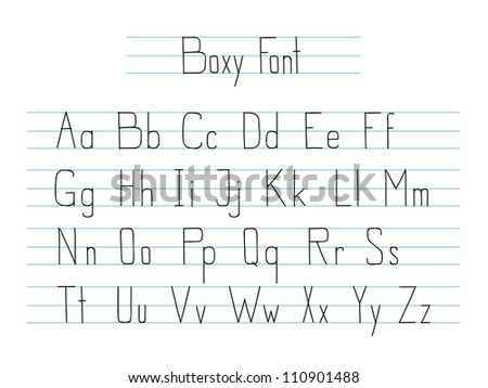 Hand drawn style vector font isolated on white. - stock vector