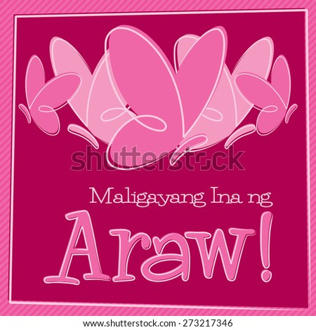 Hand drawn tagalog happy mothers day stock vector 273217346 hand drawn tagalog happy mothers day card in vector format m4hsunfo