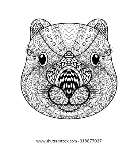 Wombat stock images royalty free images vectors Tribal animals coloring book